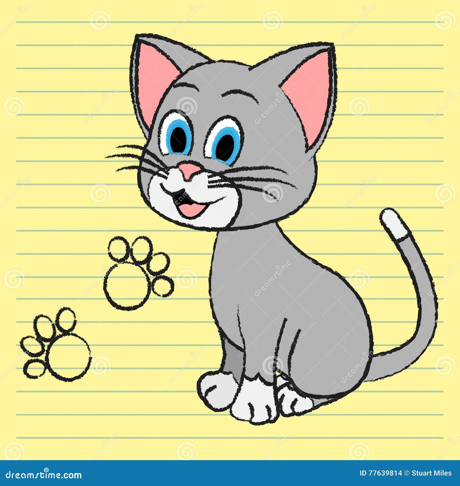 Gullig Cat Means Adorable Pet And kattdjur
