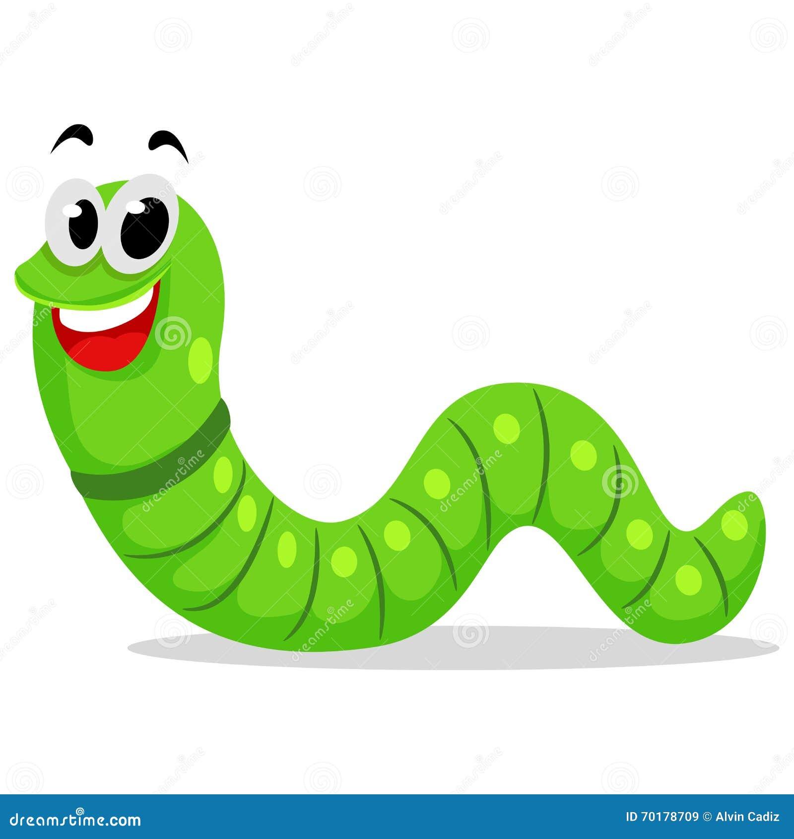 Gullig Caterpillar maskot