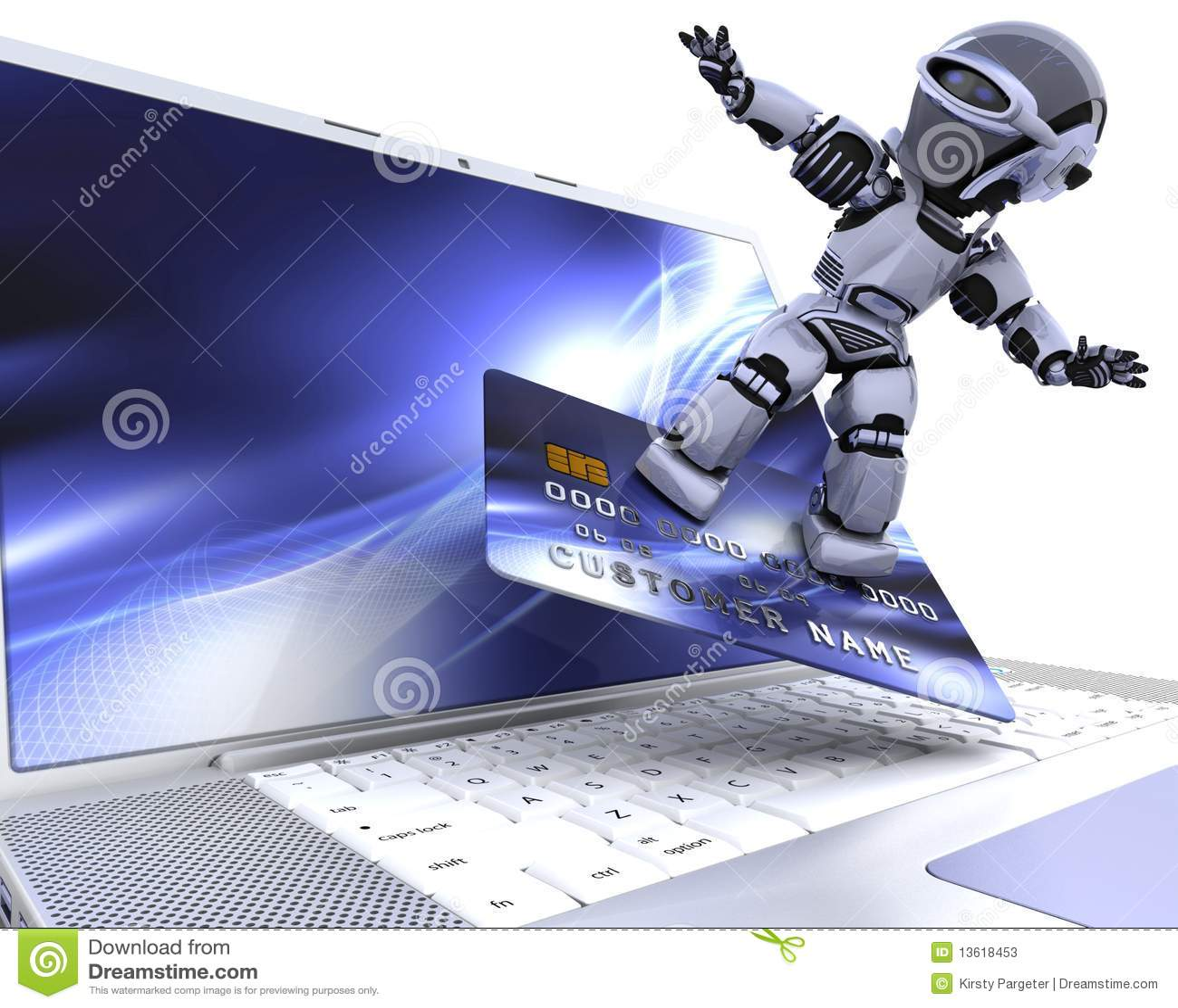 Gullig cyborgrobot