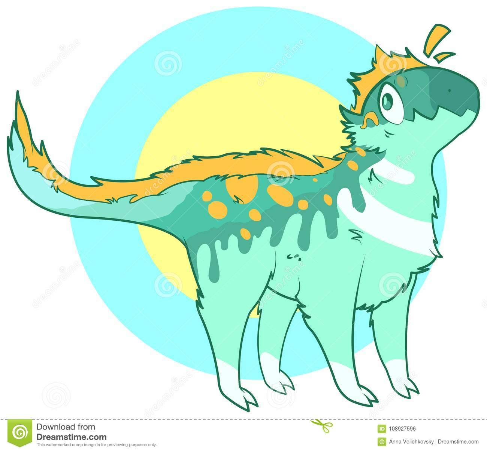 Gullig dinosaur