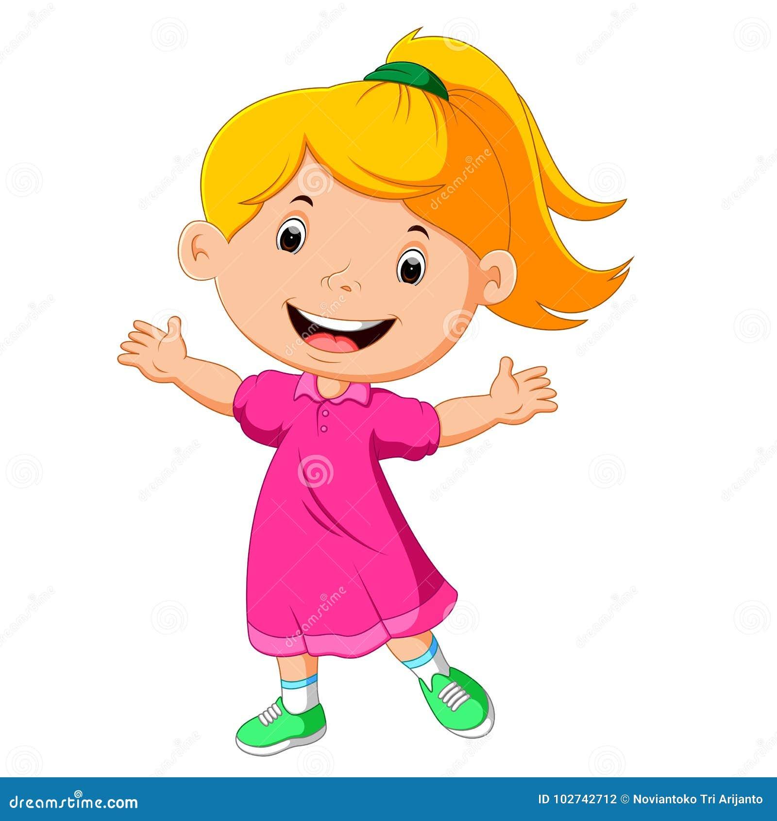 Gullig flicka little