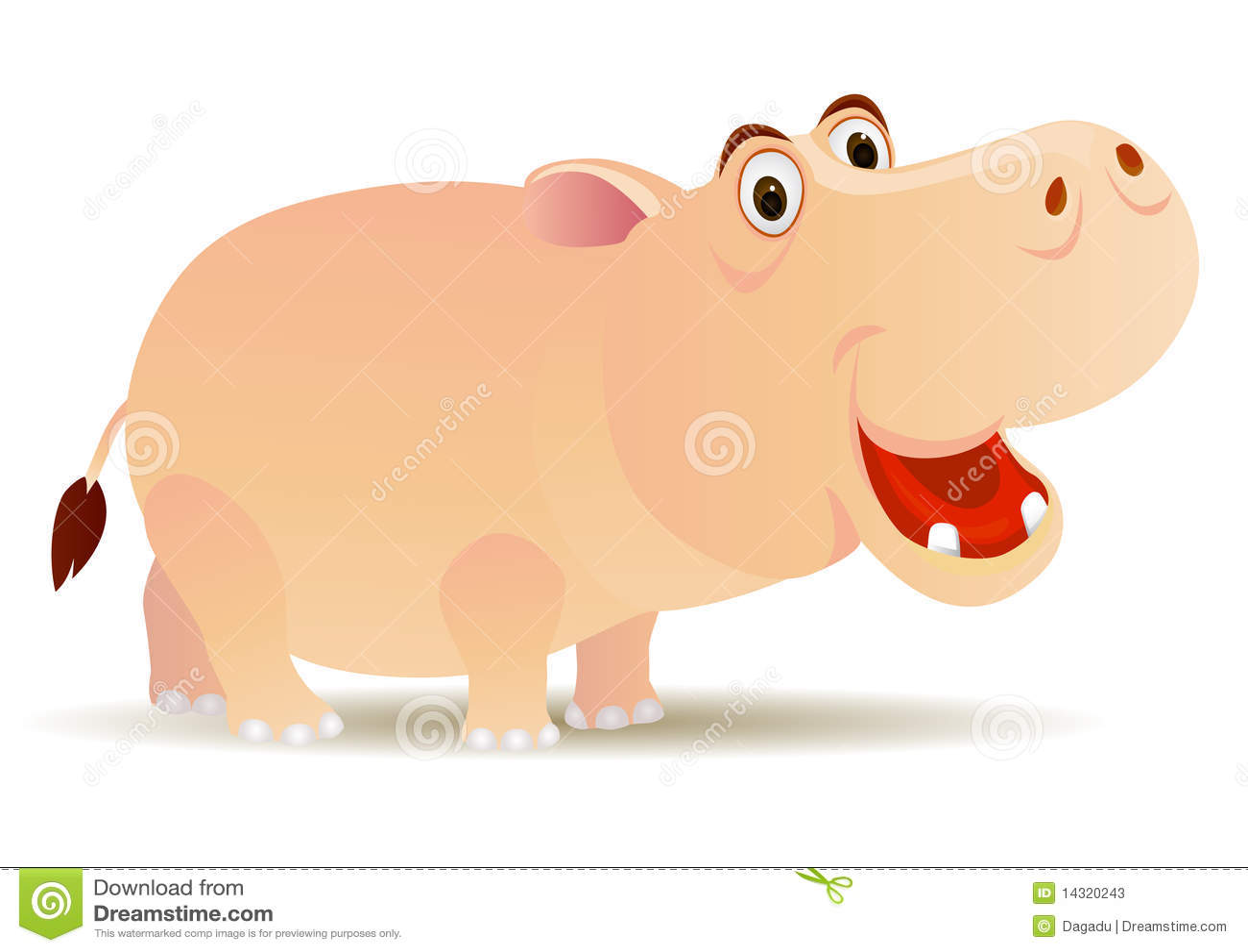 Arkivfoton cute hippo cartoon bild
