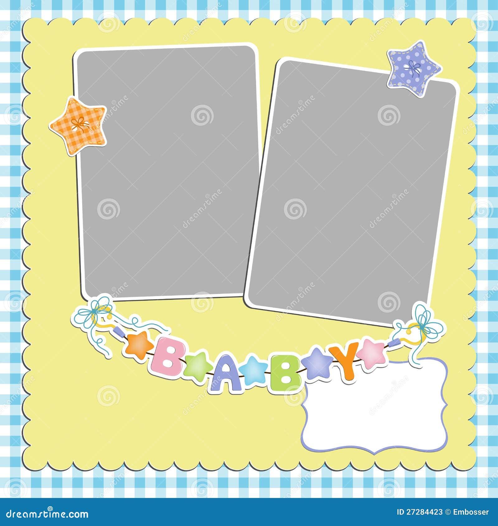 Gullig mall för babys kort