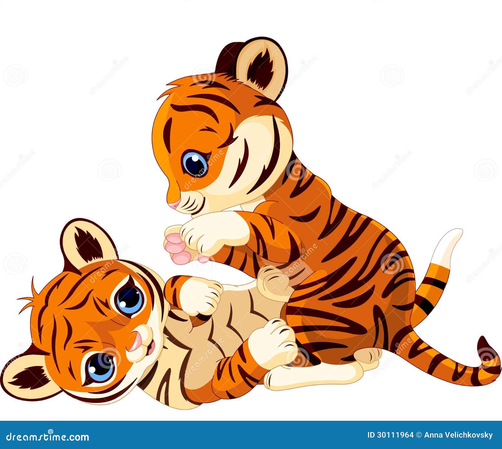 Gullig skämtsam tigergröngöling