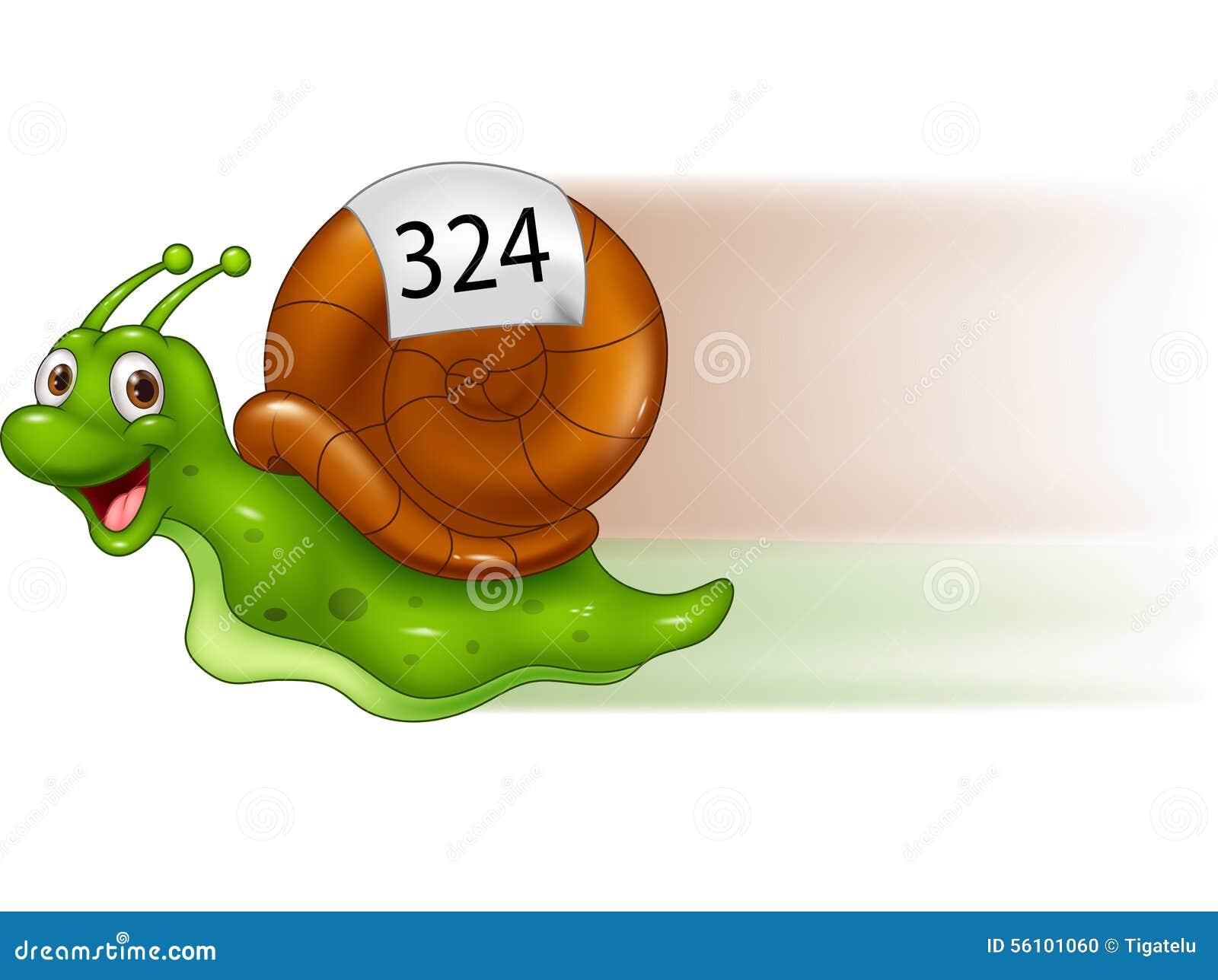 Gullig snail för tecknad film
