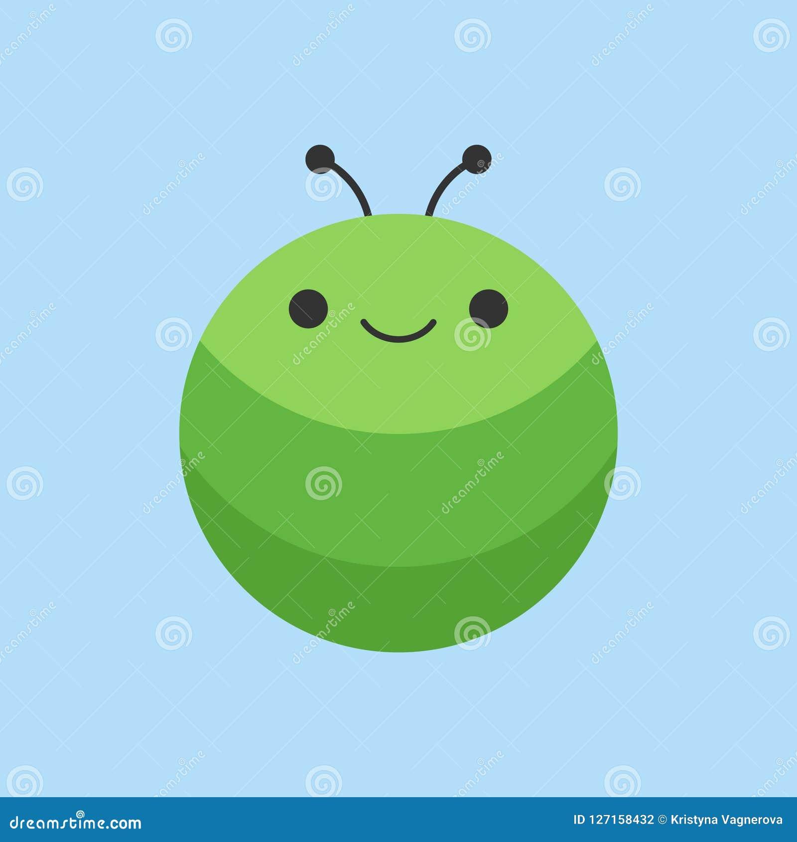Gullig symbol för larvrundavektor