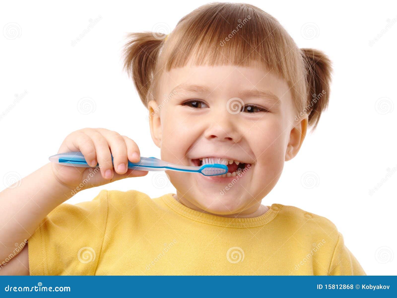 Gullig tandborste för barn