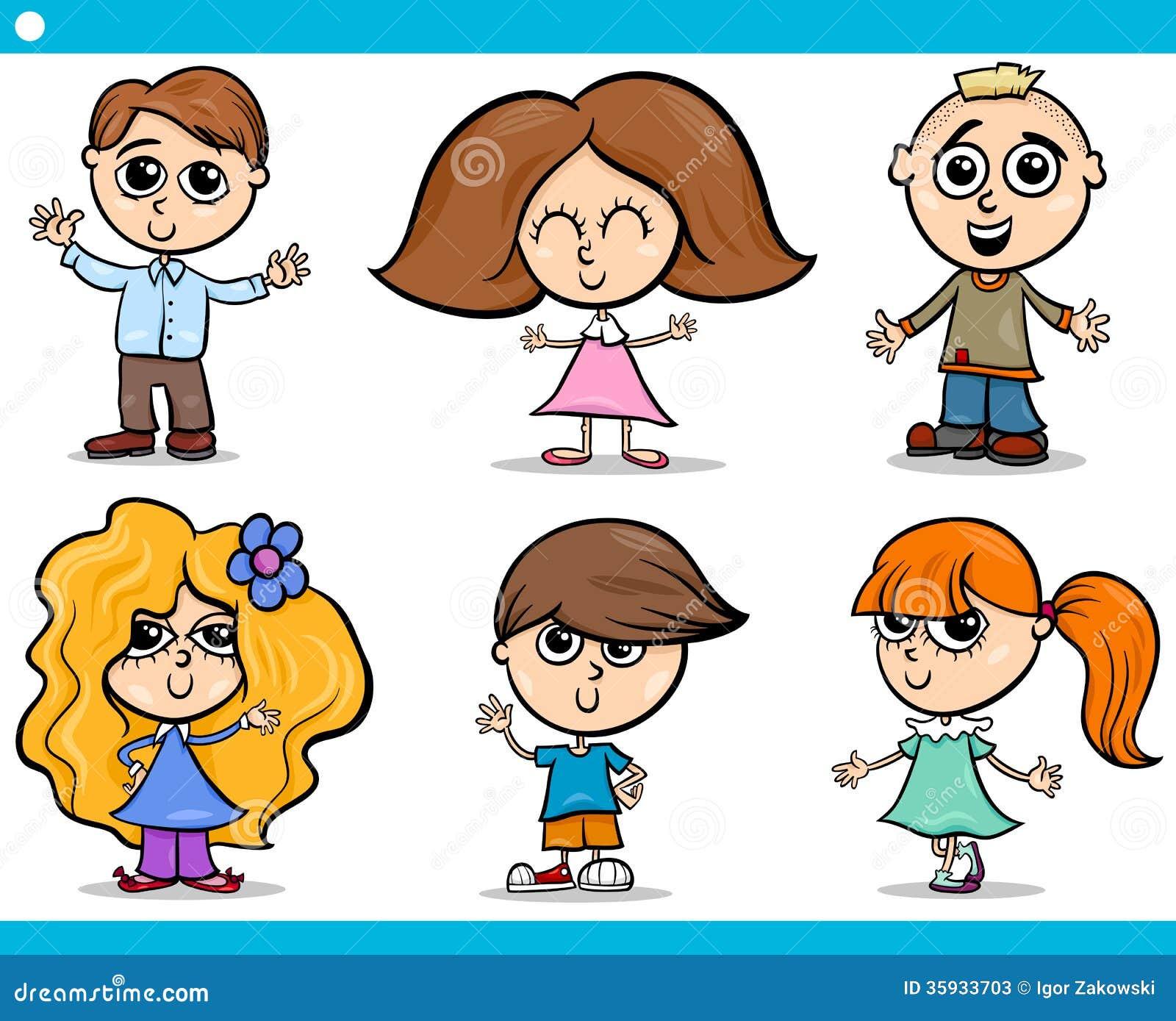 Gullig tecknad filmuppsättning för små barn
