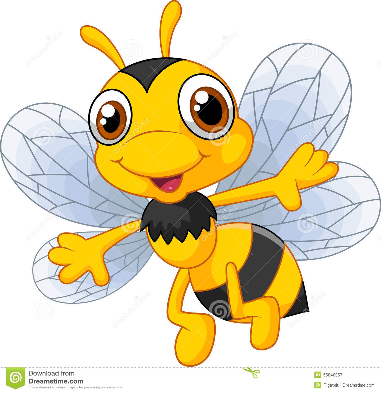 Gulliga bin för tecknad film
