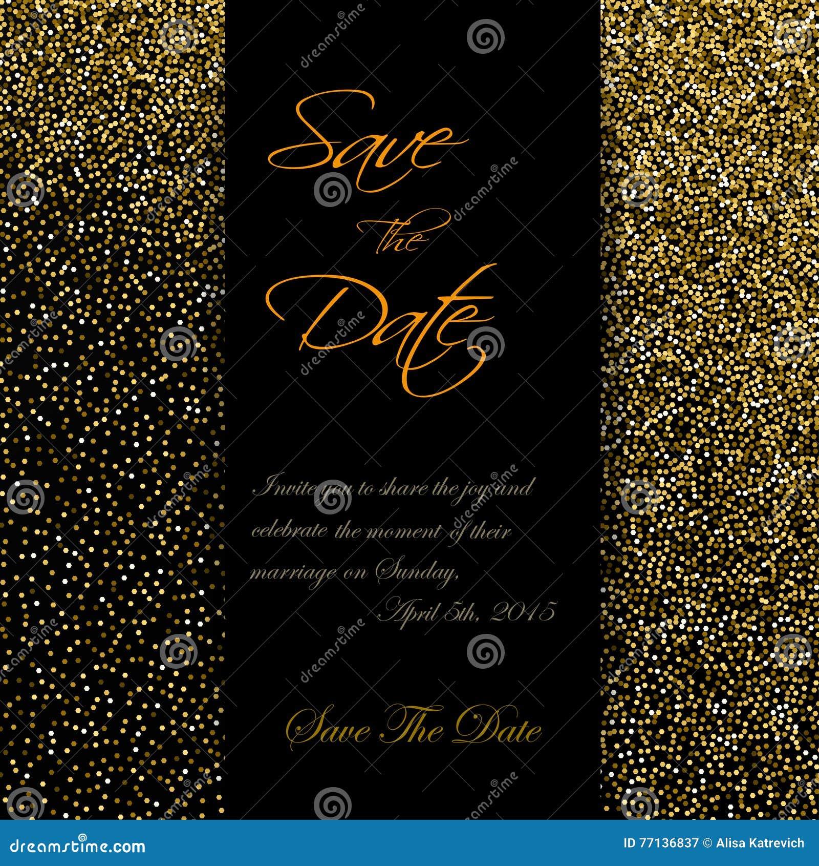 göra på födelsedag Gulliga Kort Med Guld  Konfettier Blänker Göra Perfekt För  göra på födelsedag