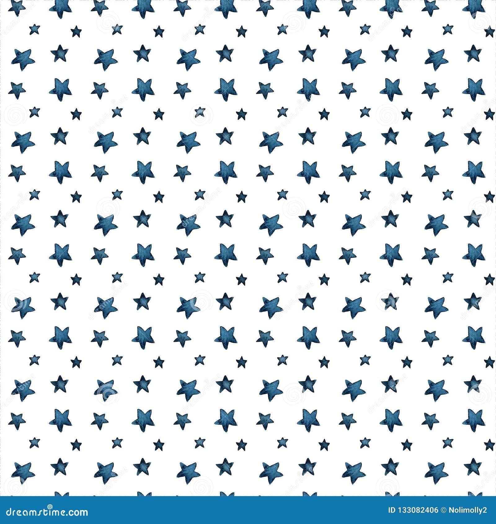 Gulliga stora och små blåa stjärnor, honnör av stjärnor modell