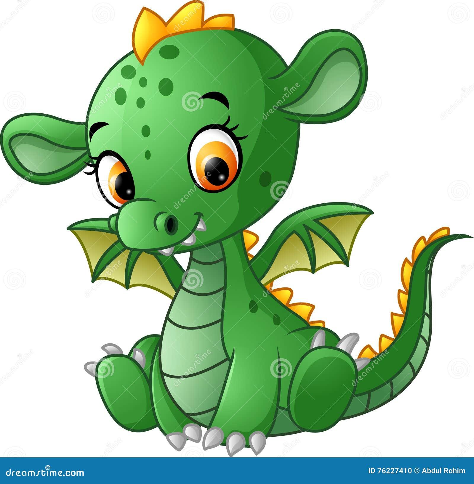 Gulligt behandla som ett barn draken