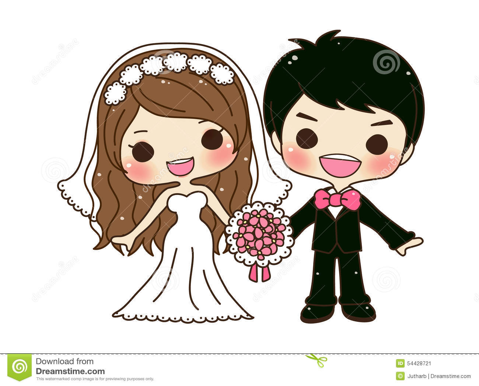 Gulligt parbröllop