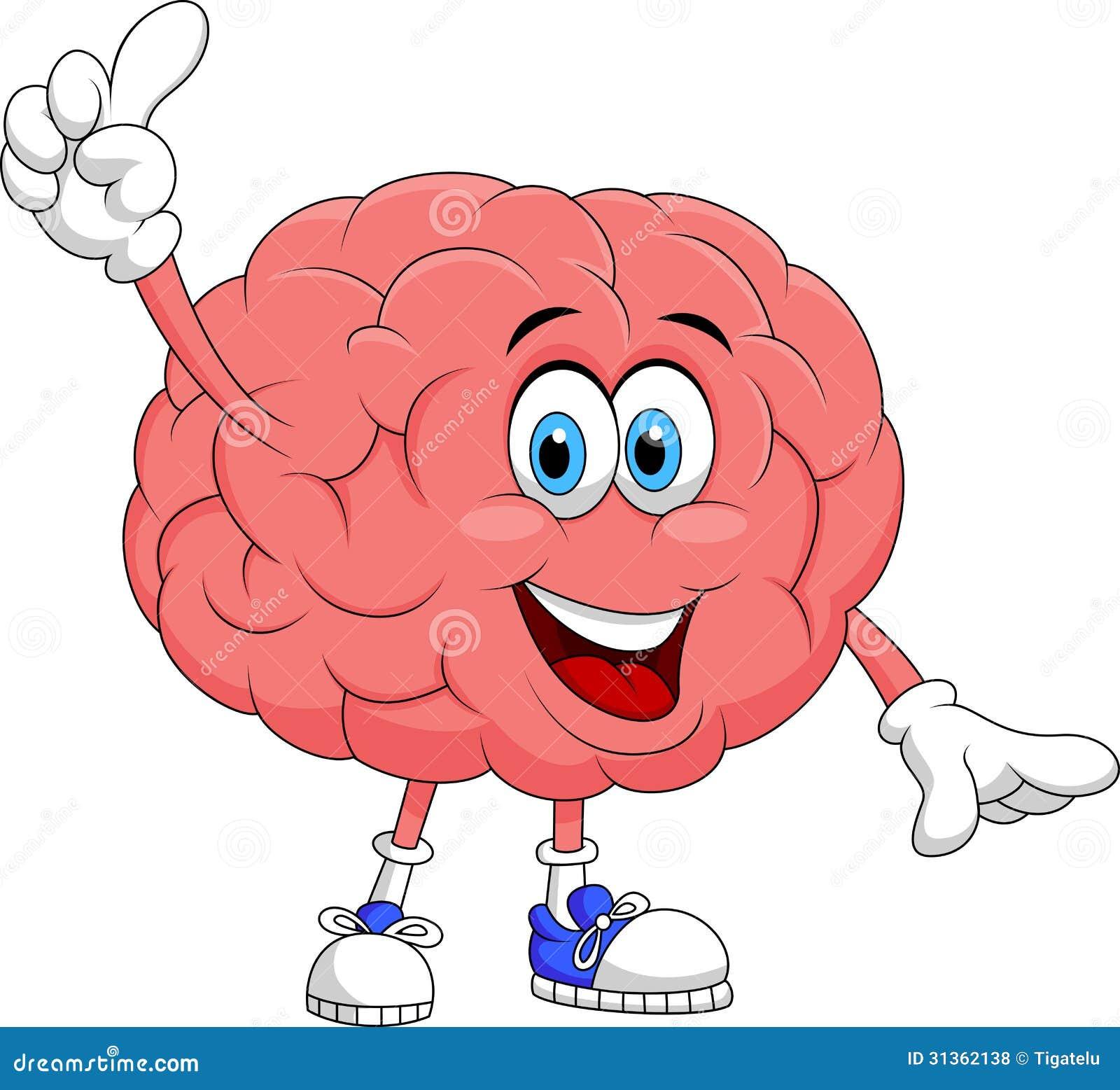 Gulligt peka för hjärntecknad filmtecken