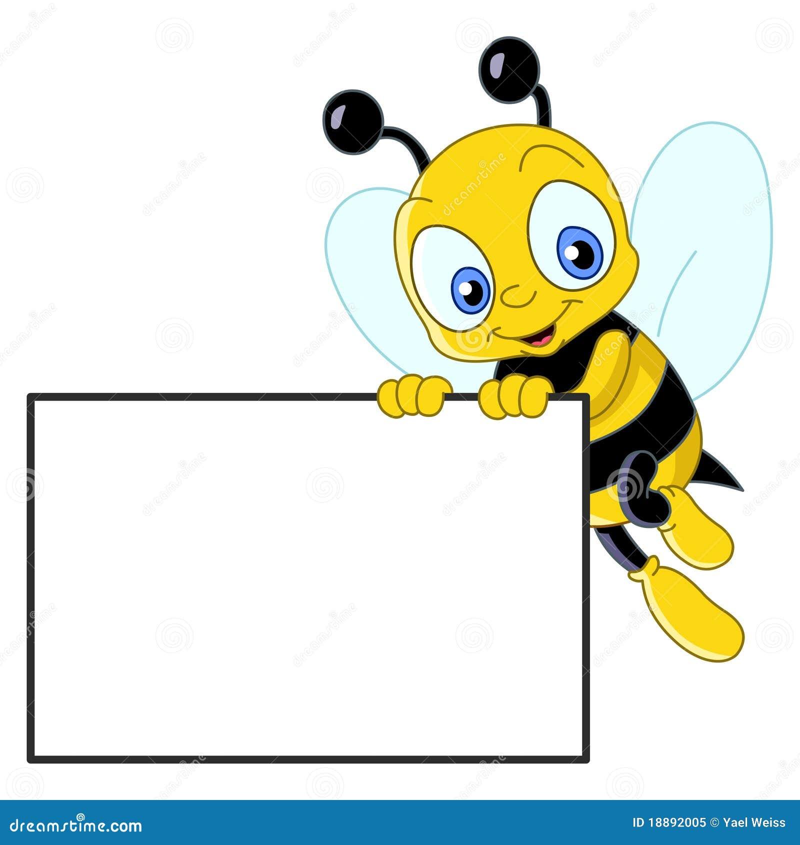 Gulligt tecken för bi