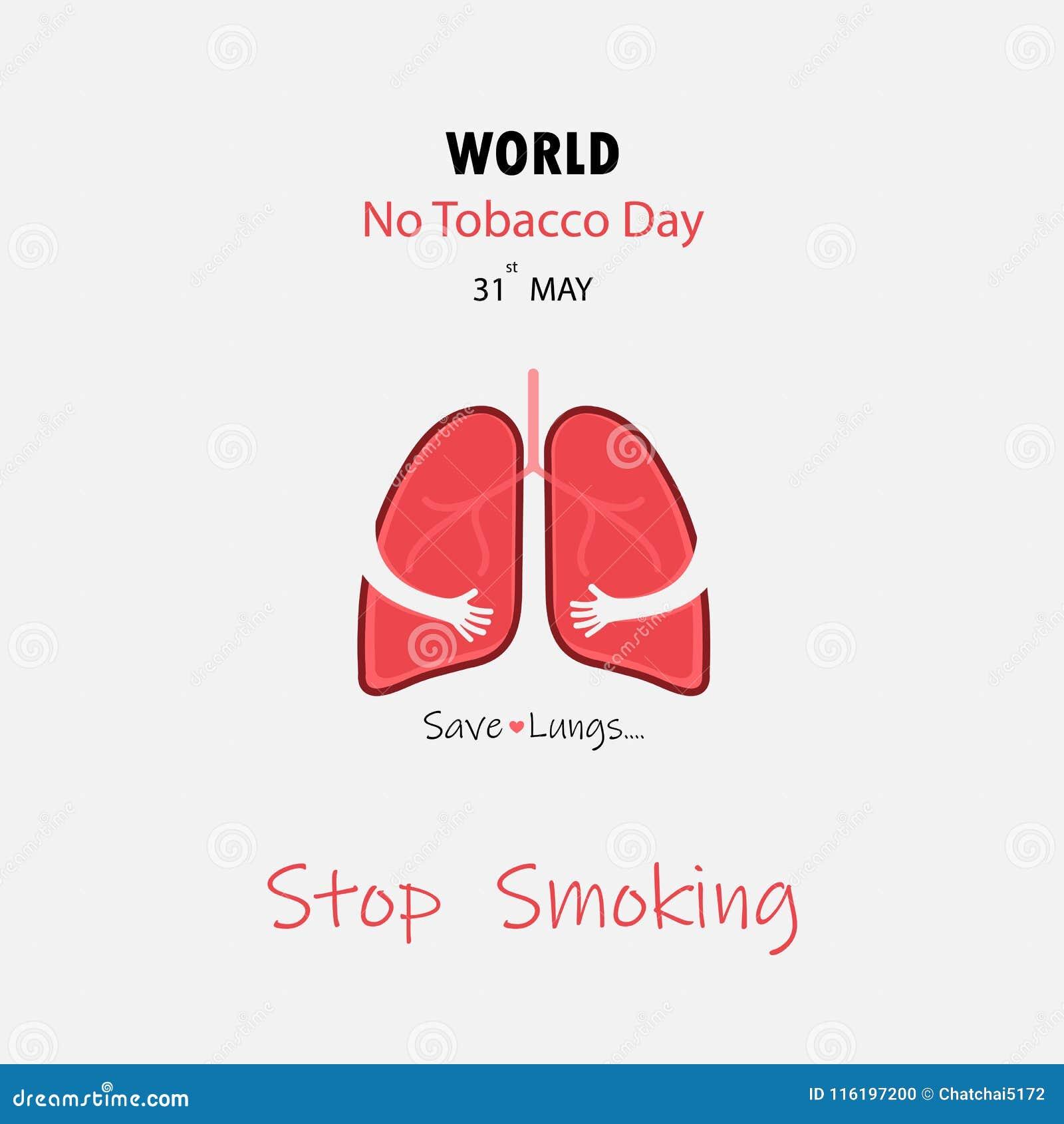 Gulligt tecknad filmtecken för lunga och vektor för stoppröka & räddninglungor