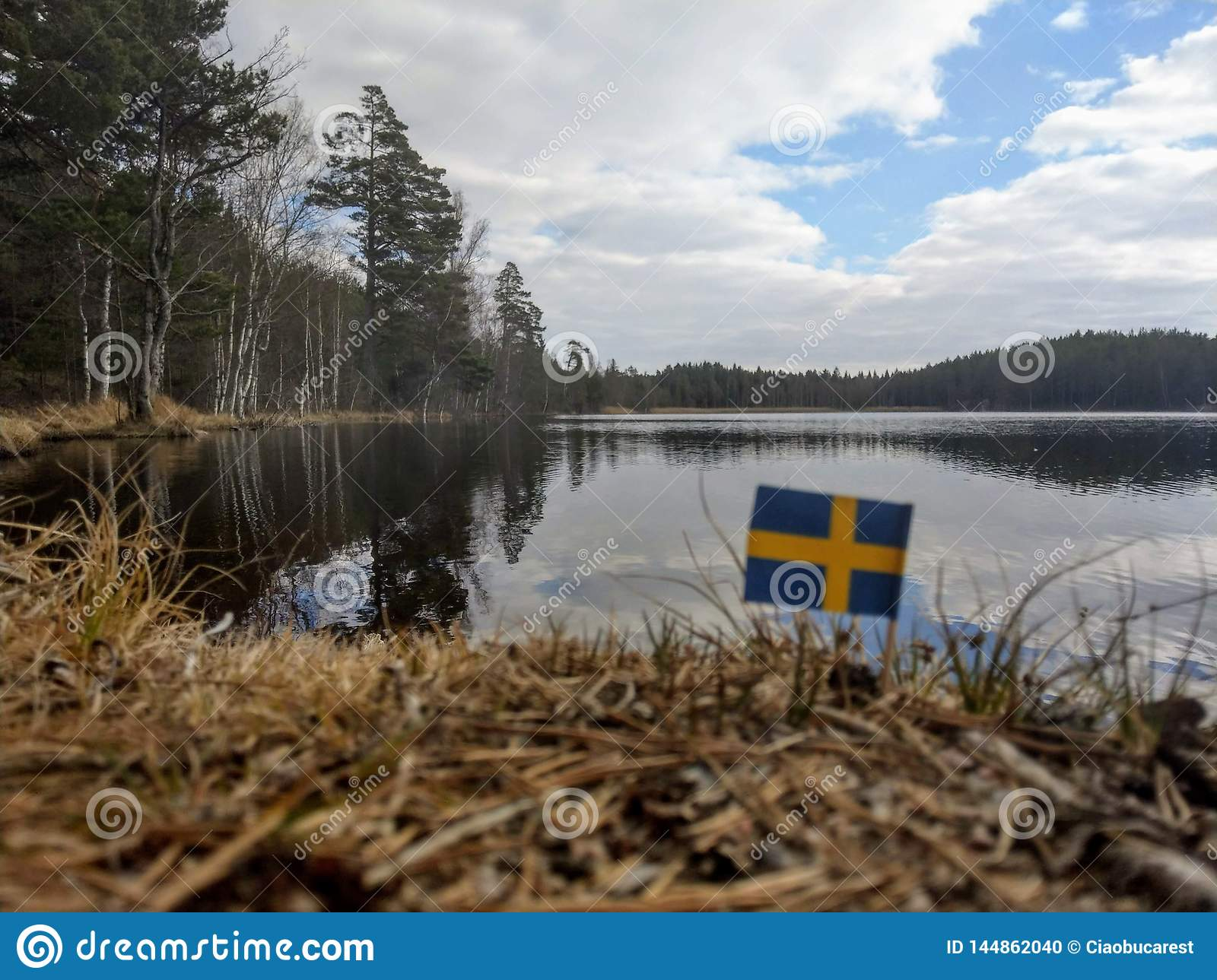 Gullvagnen Lake Sweden Stock Photo Image Of Ostergotland 144862040