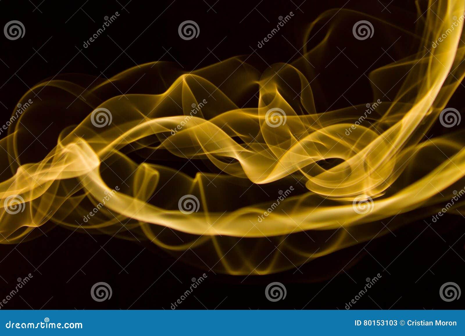 Gult rökabstrakt begrepp
