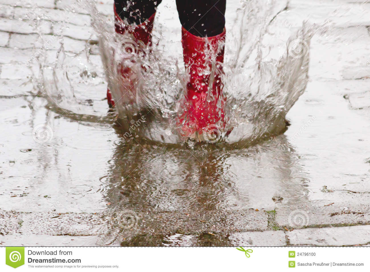 Gum Boots In The Rain Stock Photo - Image: 24796100
