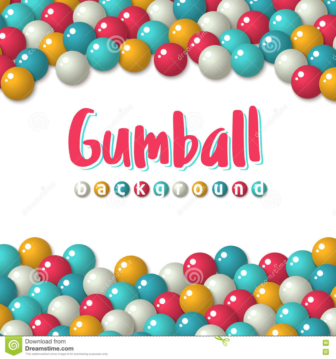 gumball candies holiday background stock vector illustration of