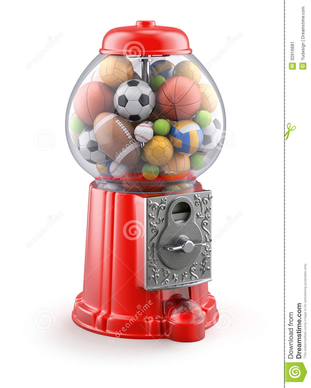gumball machine with balls