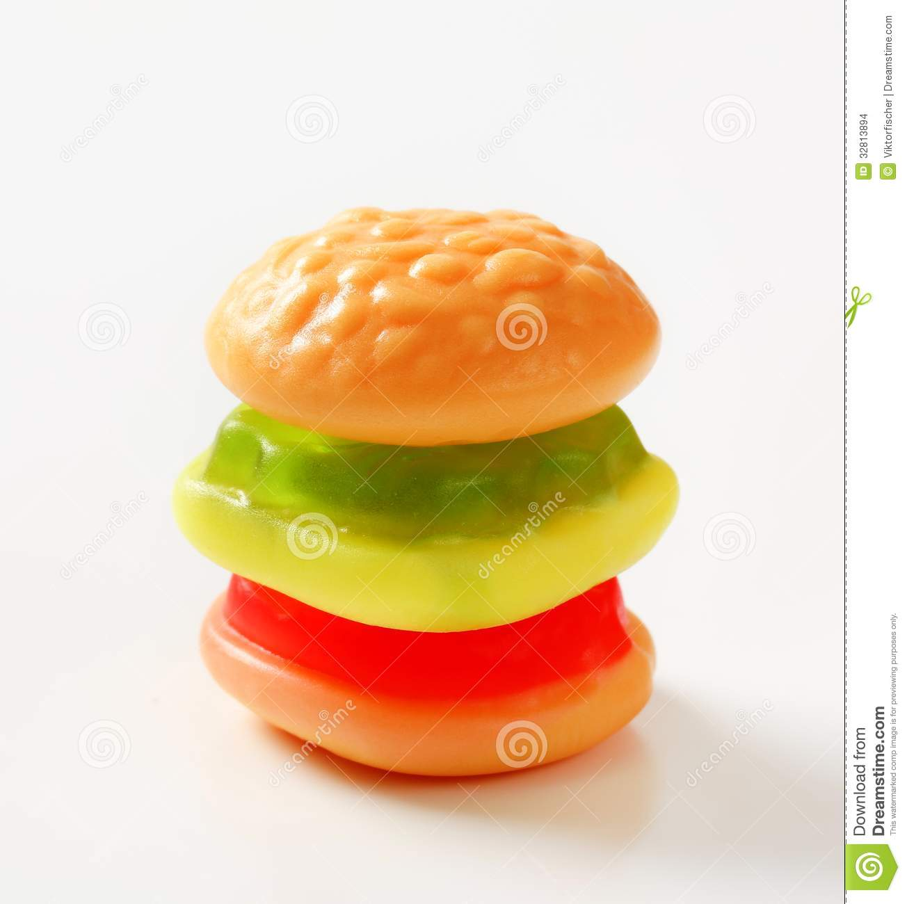 Gummy Burger Stock Images - Image: 32813894