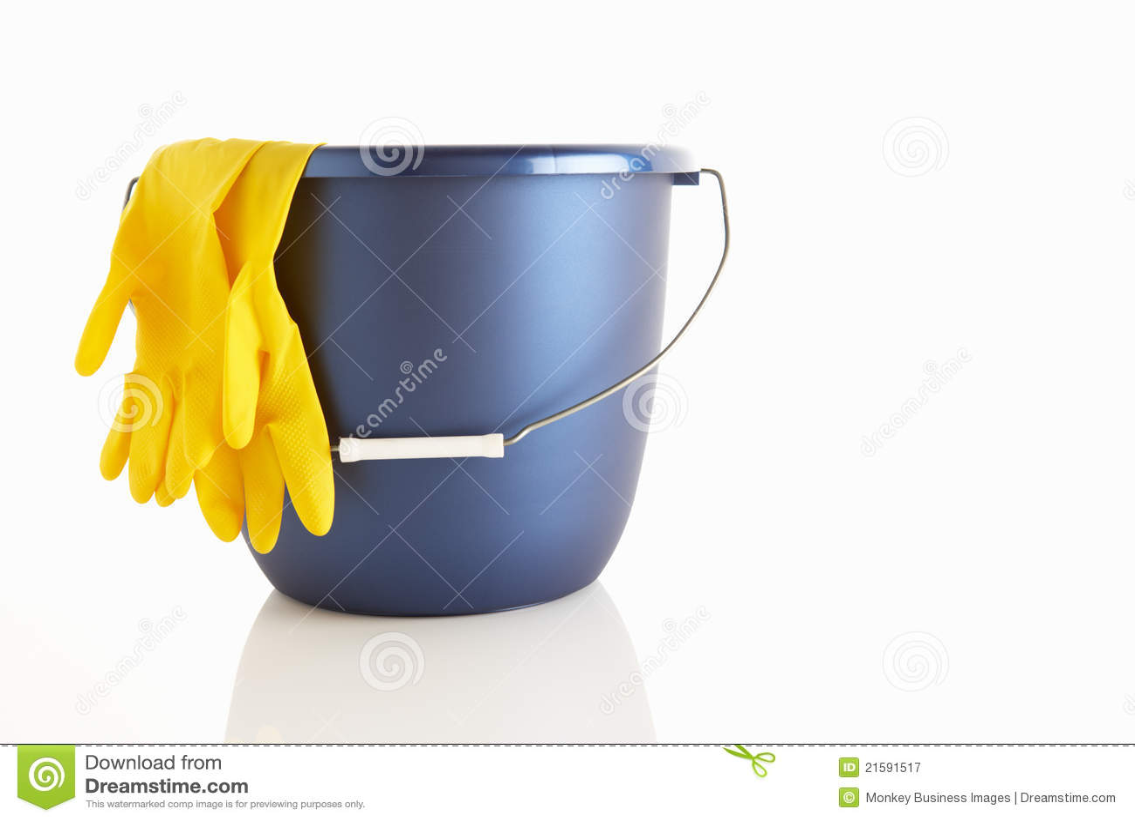 Gumowe wiadro rękawiczki