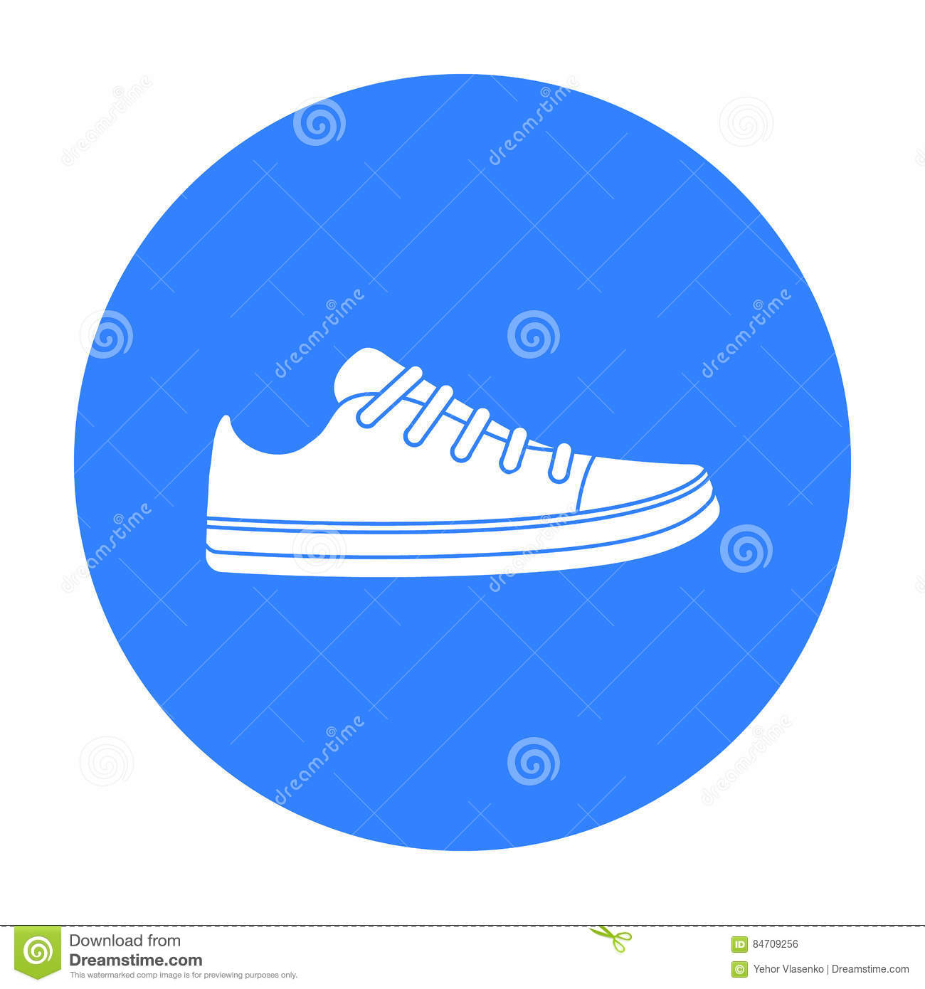 Gumshoes Icon In Black Style Isolated On White Background Shoes