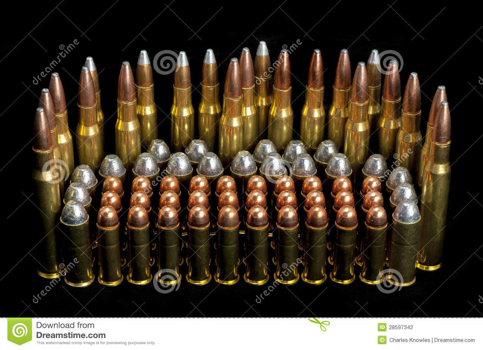Gun Ammunition Bullets Different Sizes Stock Photography ...  Ammunition Sizes