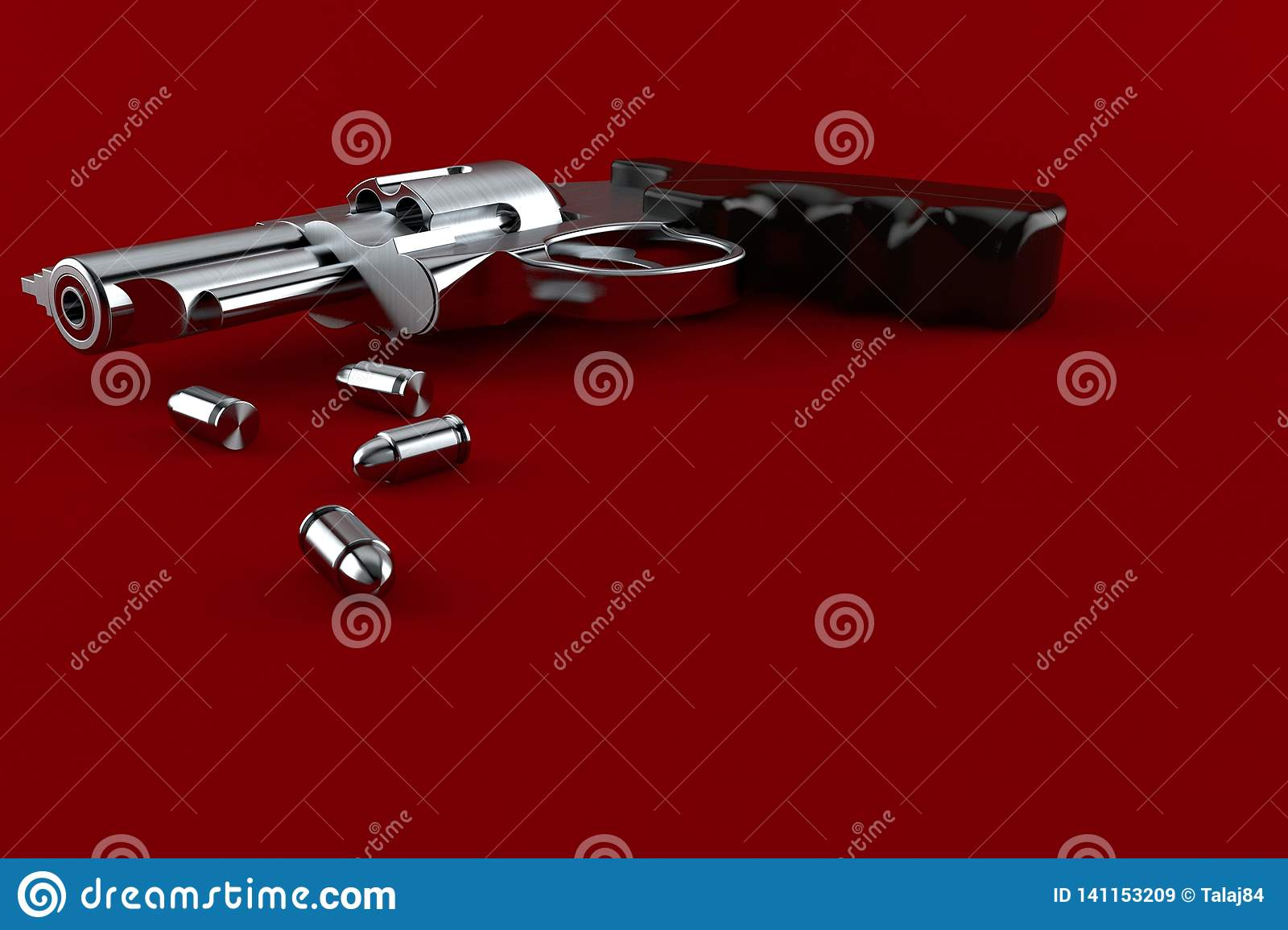 Gun with ammunition