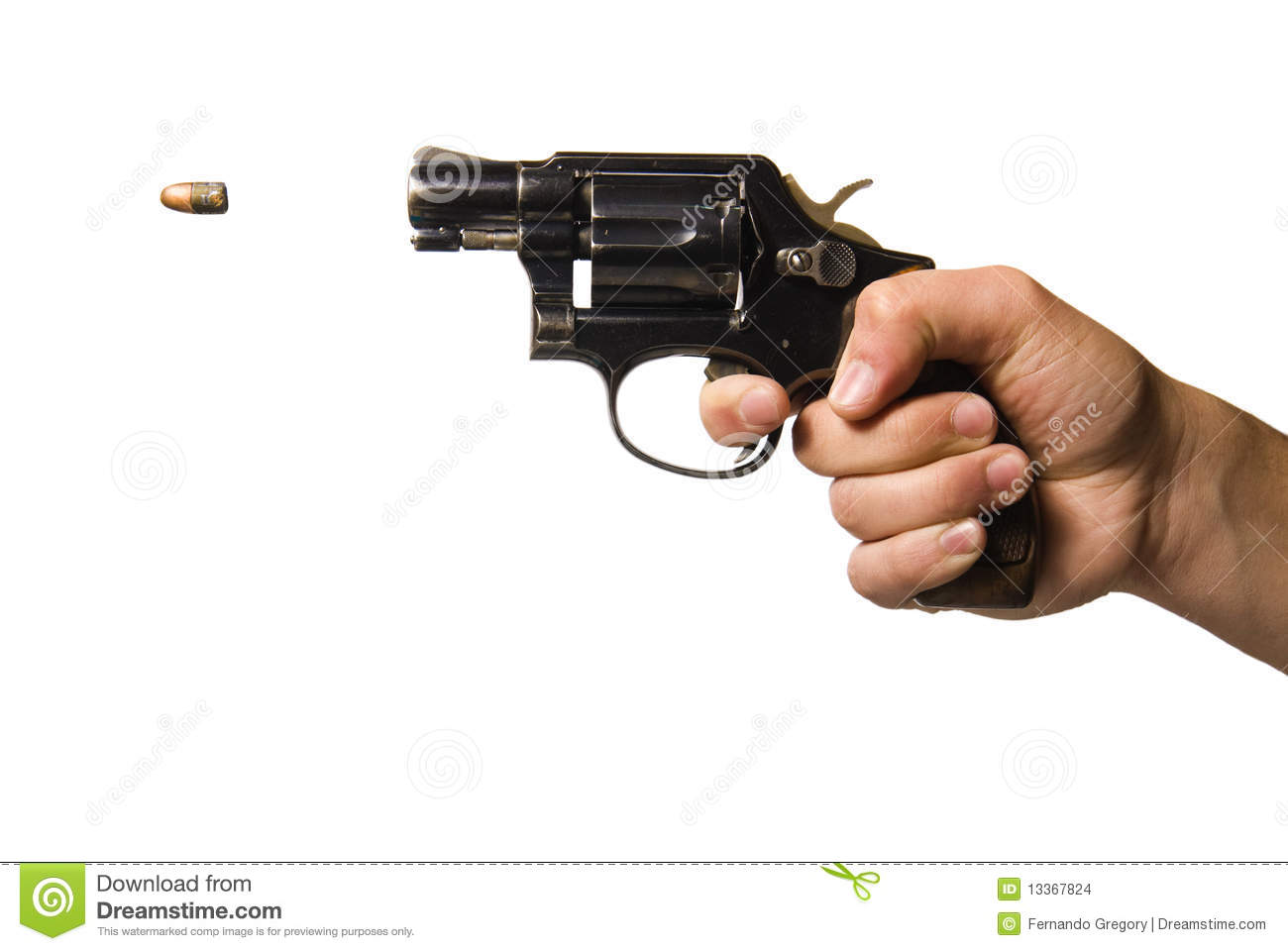 Gun Being Fired Stock Photo  Image Of Nobody  Police