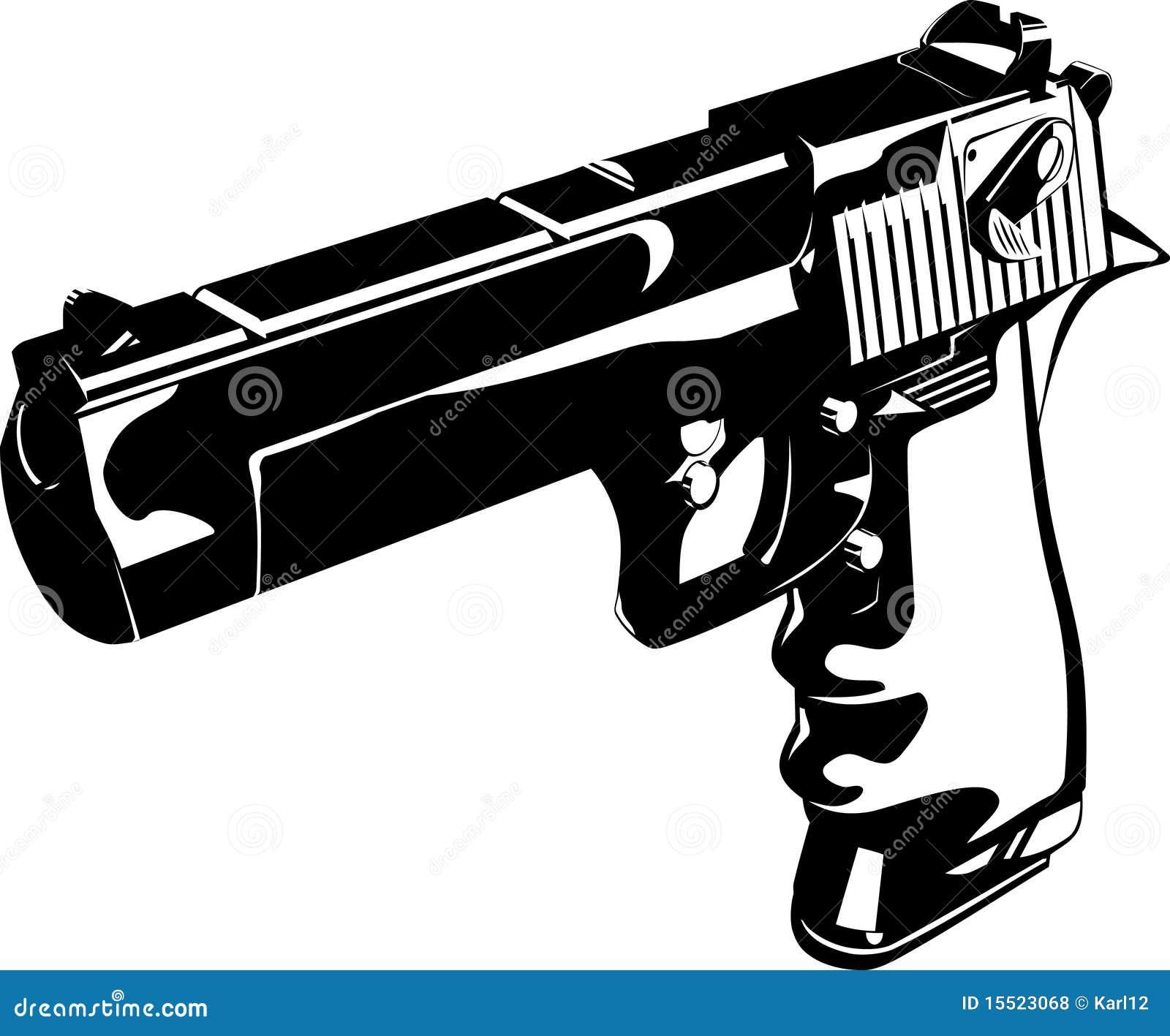 Gun Black And White Royalty Free Stock Photos - Image: 15523068