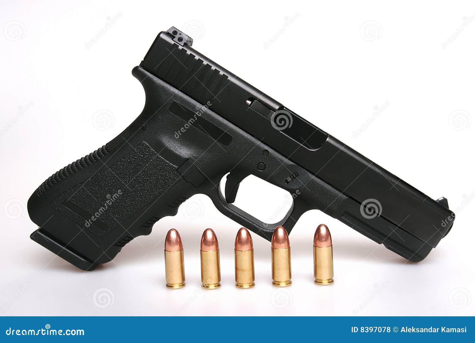 Gun And Bullets Royalty Free Stock Photos - Image: 8397078