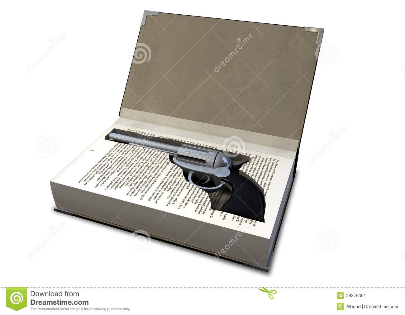 Gun Concealed In A Book stock image  Image of cache, stash