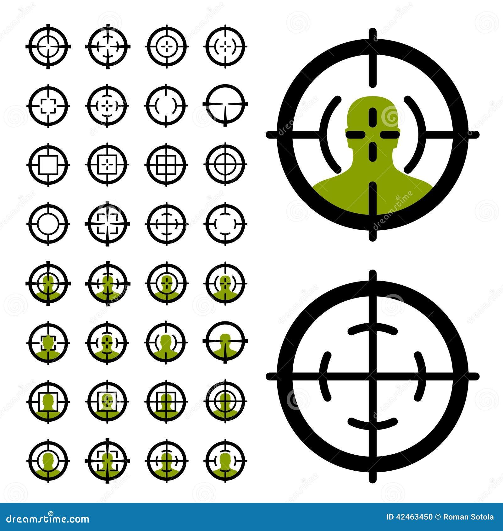 Gun crosshair sight symbols stock vector illustration of optical gun crosshair sight symbols buycottarizona