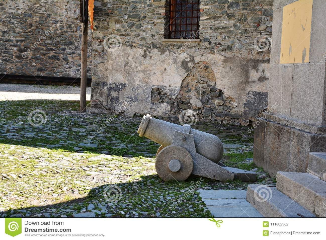 Gun At Fenestrelle Fort Piedmont Italy Stock Photo Image Of