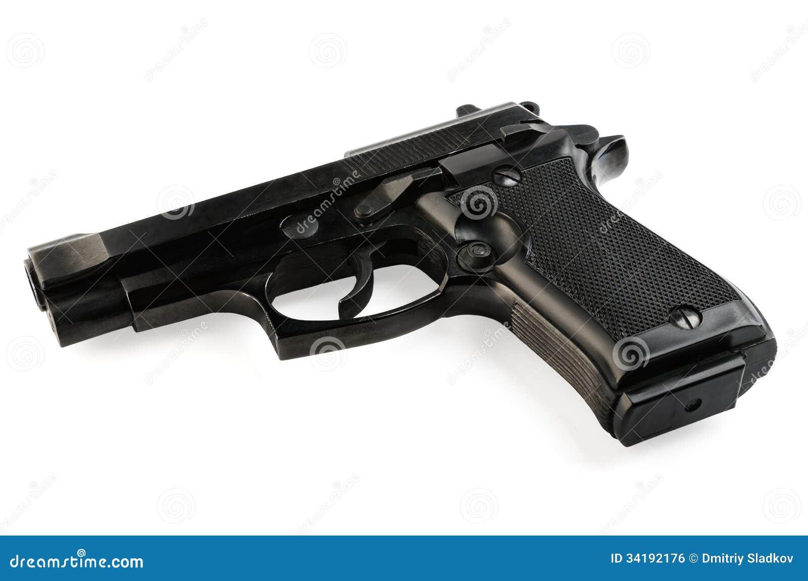 gun white background - photo #14