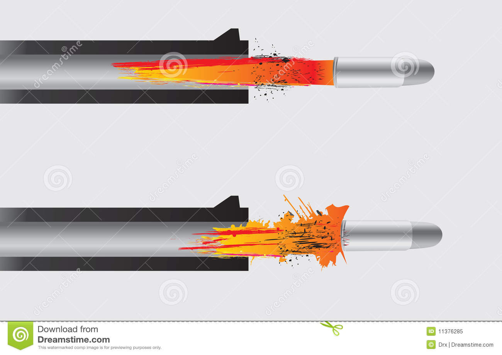Gun firing the bullet stock vector. Image of detail, army ...