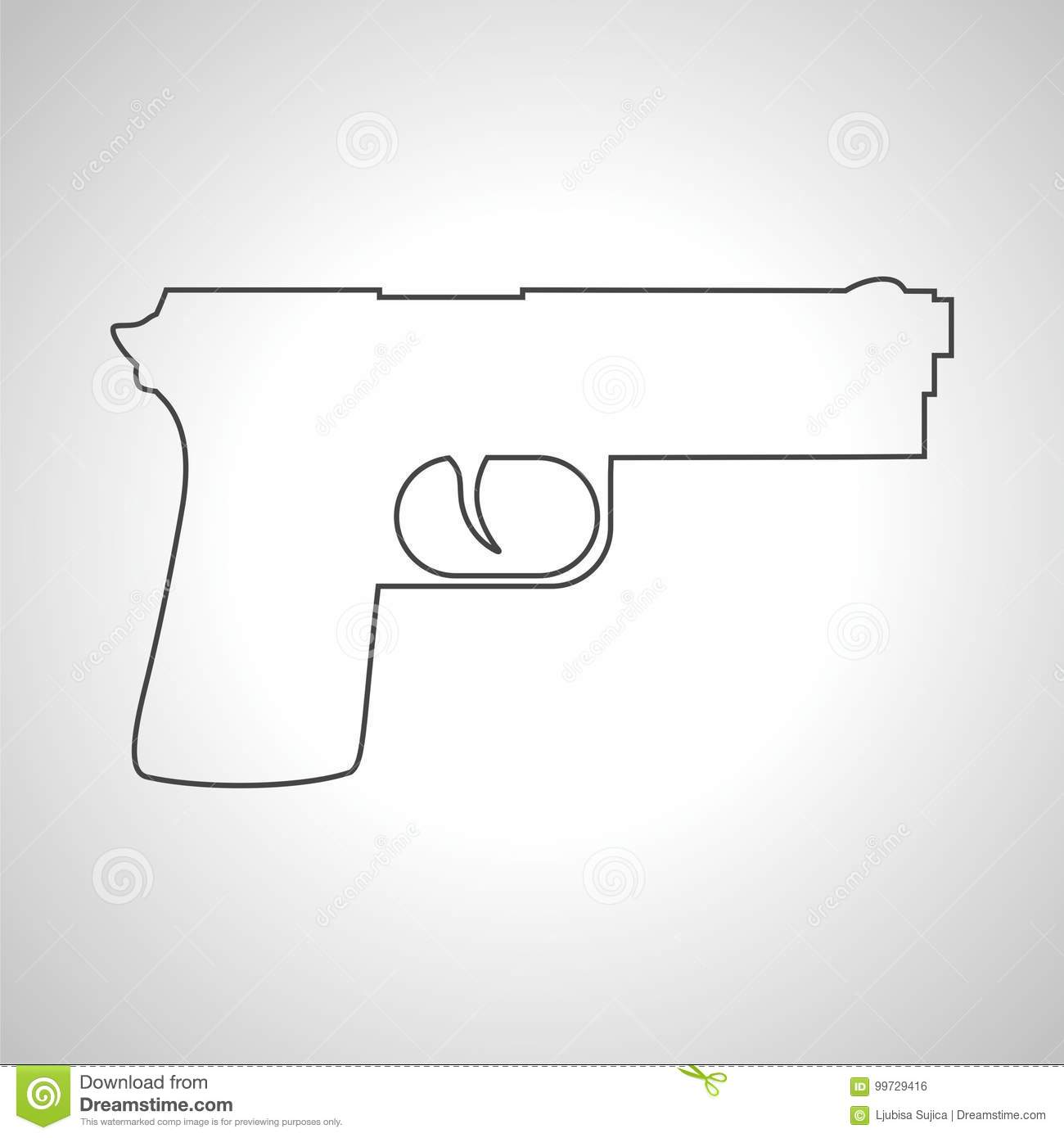 Simple Gun Drawing Magdalene Project Org