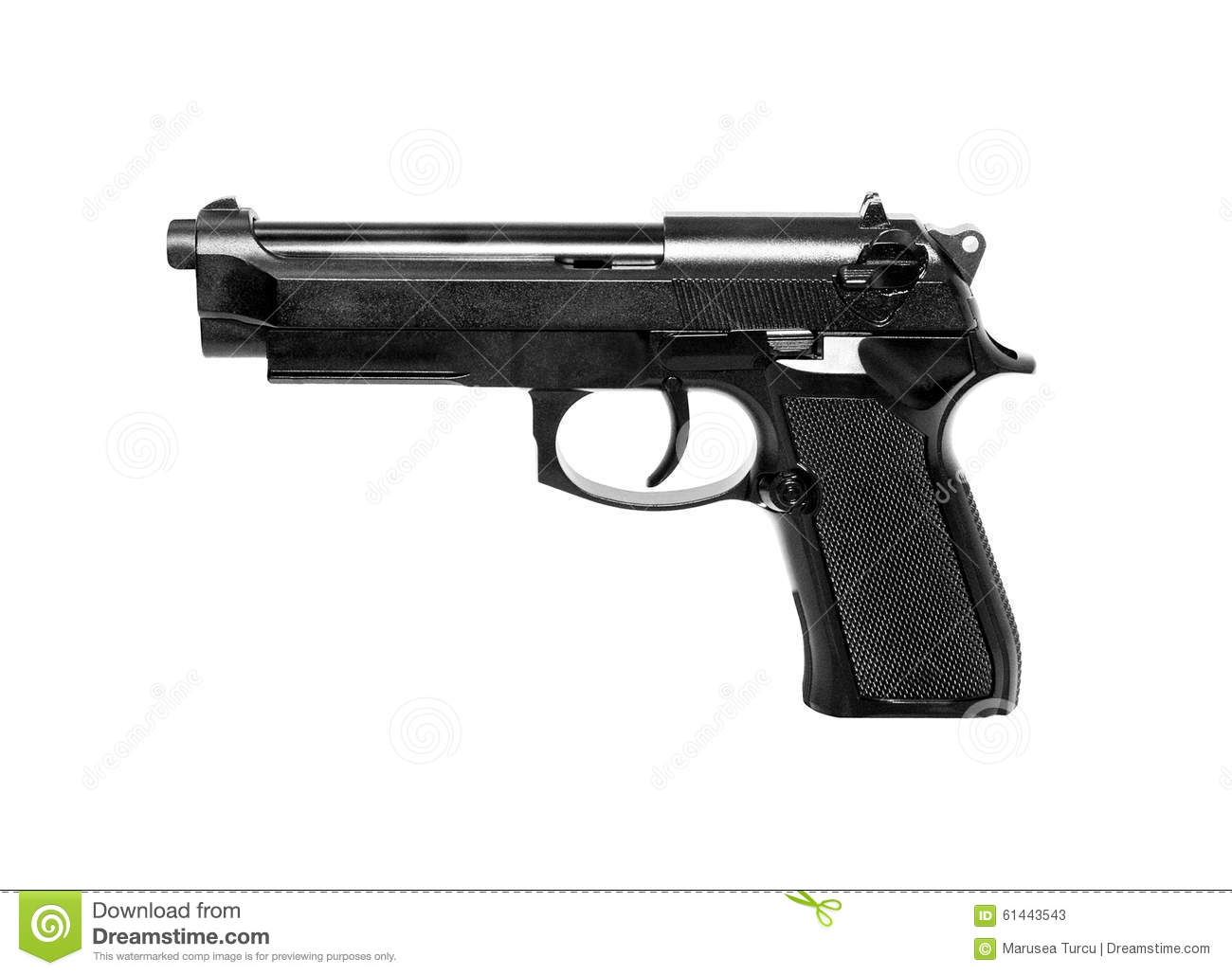 gun white background - photo #7