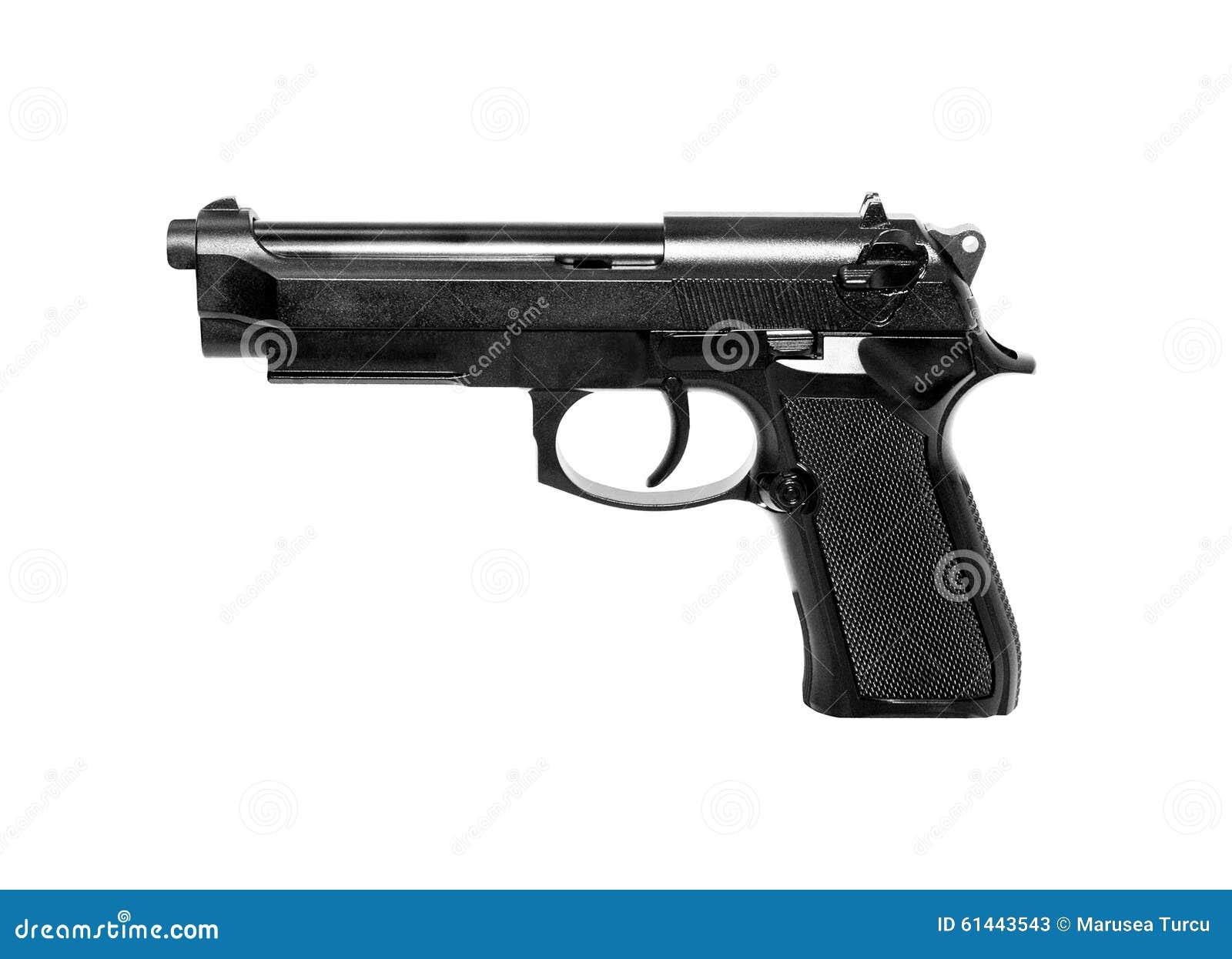 gun white background - photo #7