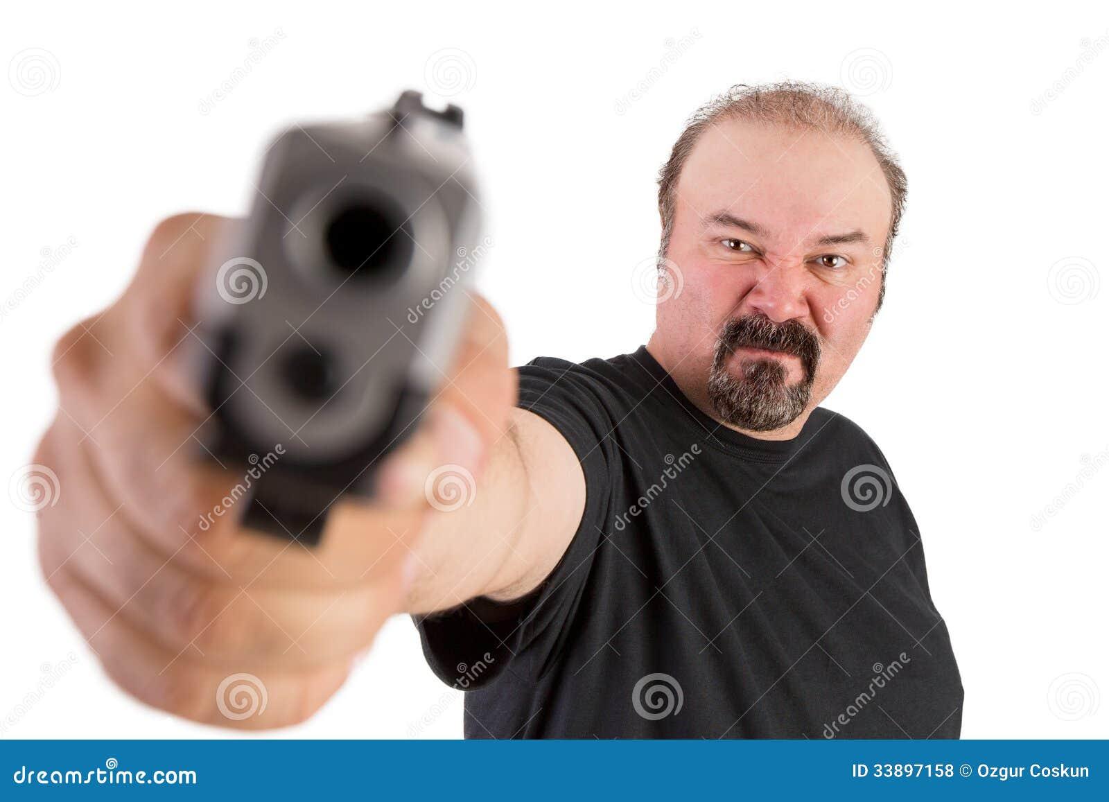 Gun Pointed At You Royalty Free Stock Photos Image 33897158