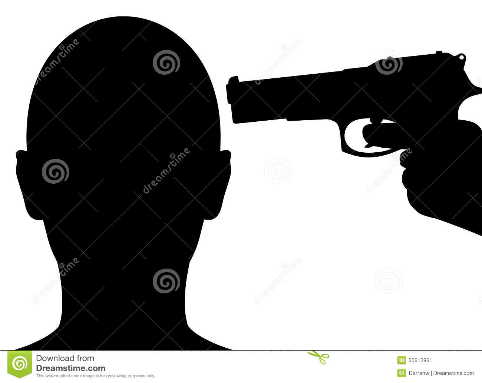 Gun Pointing To Head Stock Image - Image: 30612861