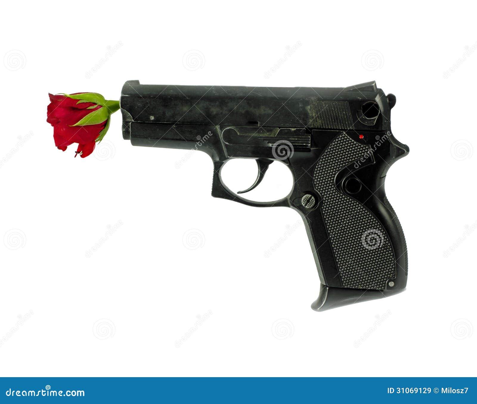 Gun And Rose Royalty Free Stock Images Image 31069129
