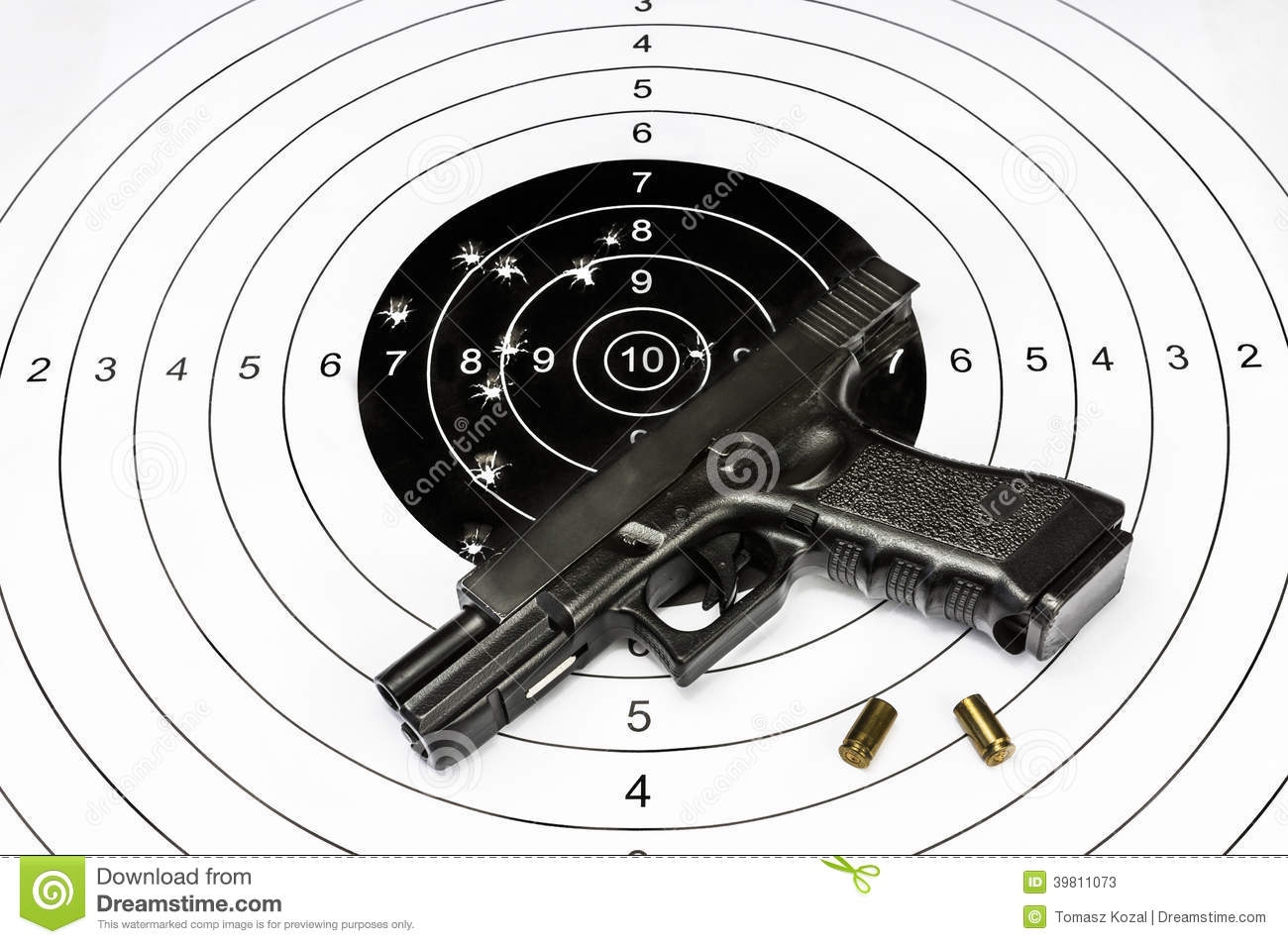 Gun And Shooting Target Stock Photo - Image: 39811073