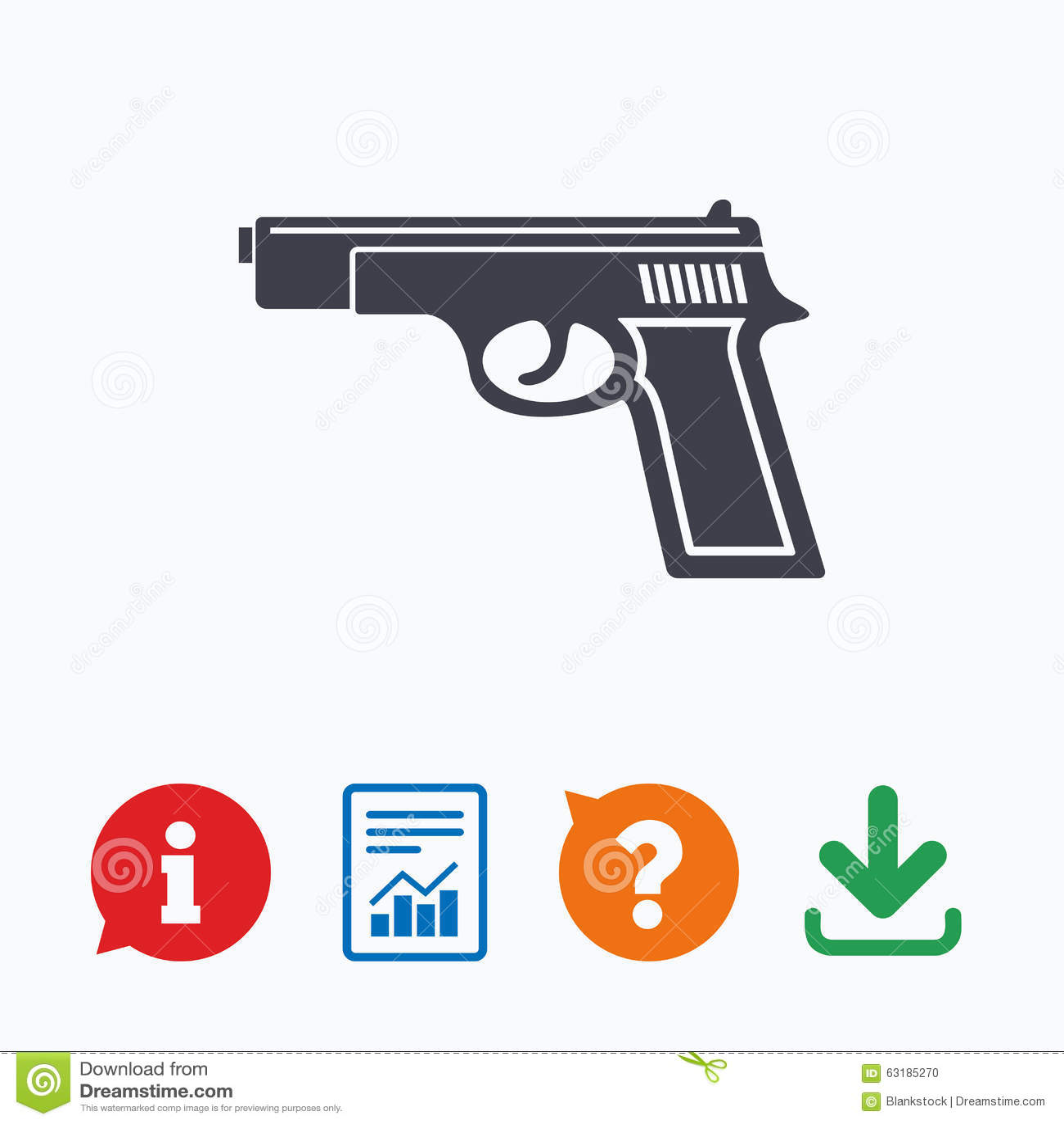 Gun sign icon firearms weapon symbol stock vector illustration gun sign icon firearms weapon symbol biocorpaavc
