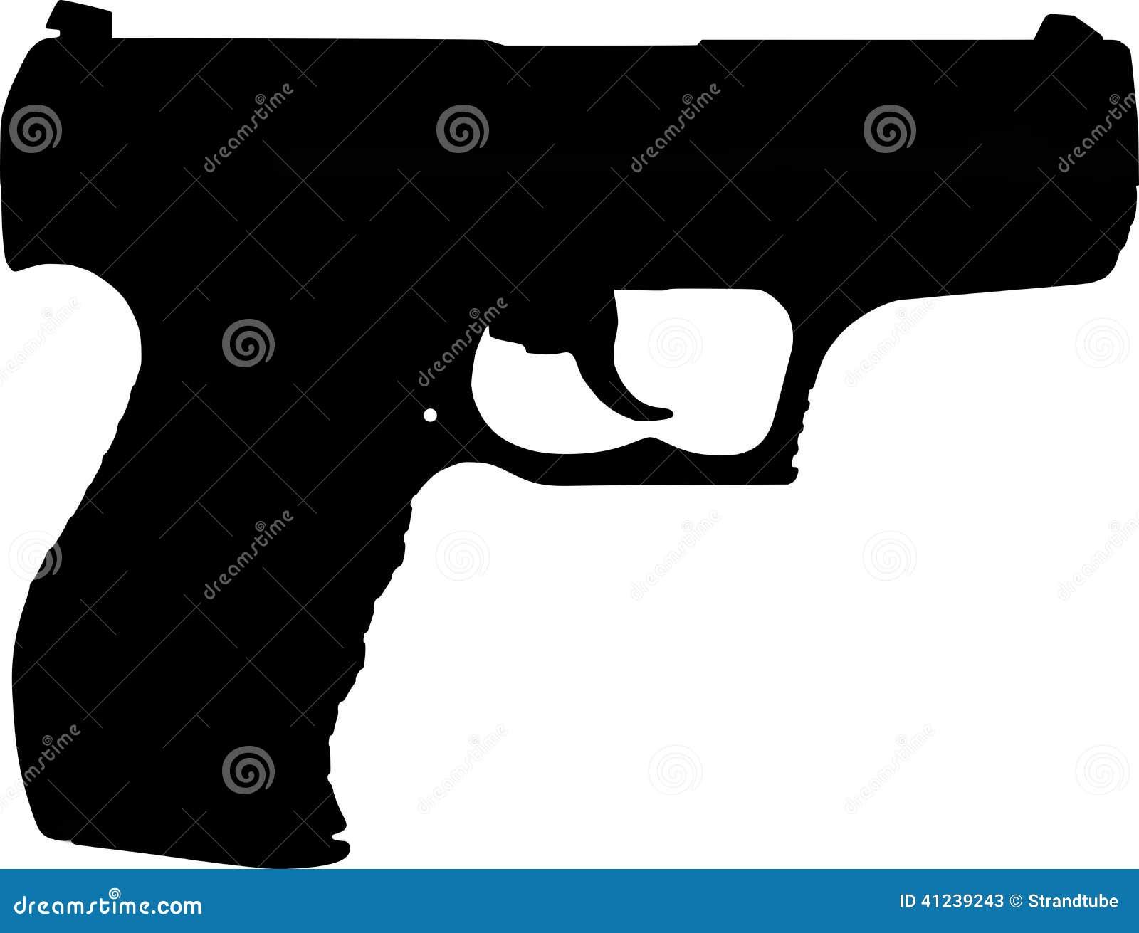 Line Art Gun : Stock photos gun silhouette image