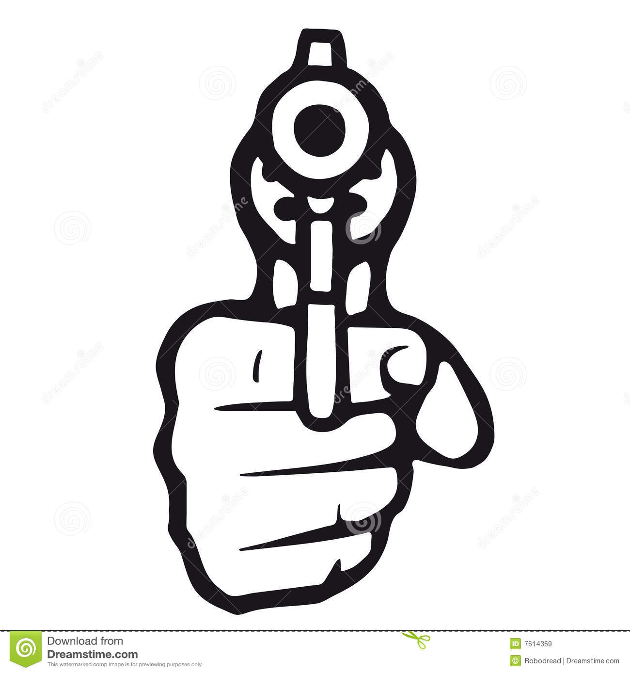 Gun (vector) stock vector. Illustration of agent, justice ...
