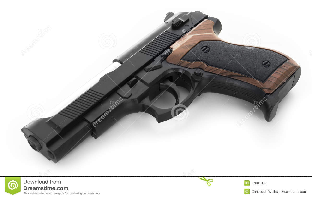 gun white background - photo #9