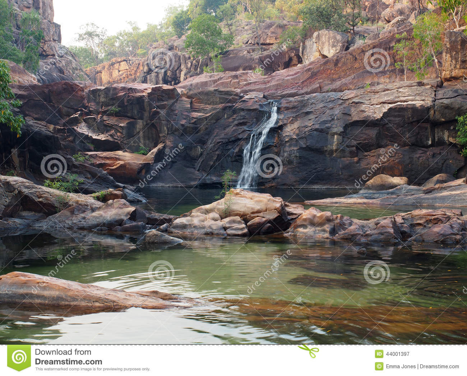 Gunlom Waterfall Creek Kakadu National Park Australia Stock Image Image 44001397